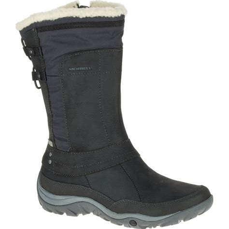 womens waterproof boots merrell s murren mid waterproof boots black
