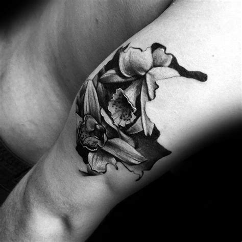 orchid tattoo black and grey orchid tattoo images designs