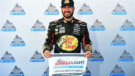 coors light pole qualifying qualifying results truex wins coors light pole at kansas