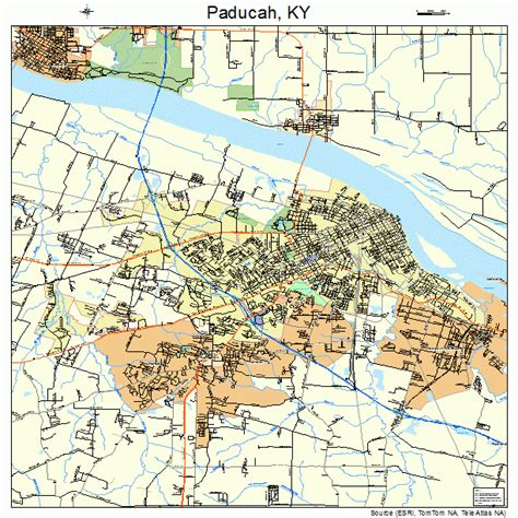 kentucky map paducah paducah kentucky map 2158836