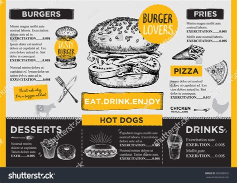 restaurant brochure vector menu design vector cafe
