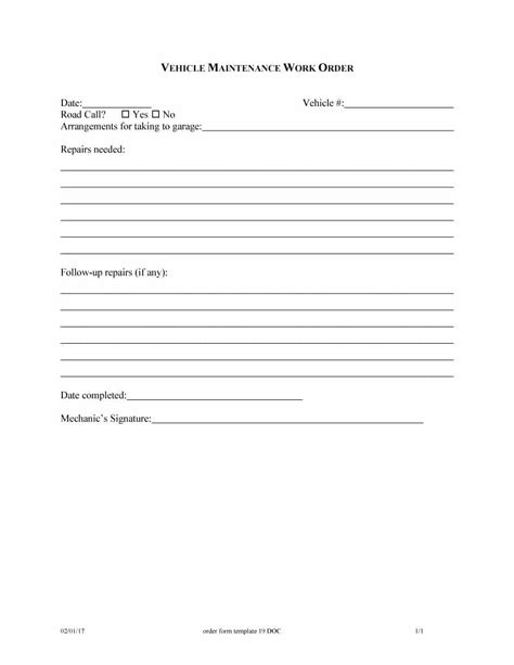 up order form template 40 order form templates work order change order more