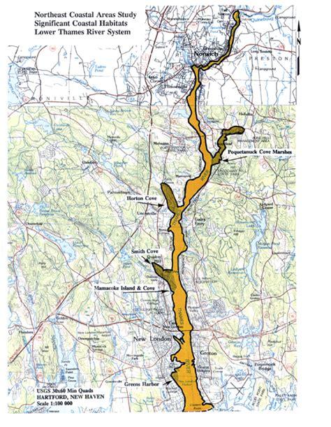 Thames River Connecticut Map | 26 thames river