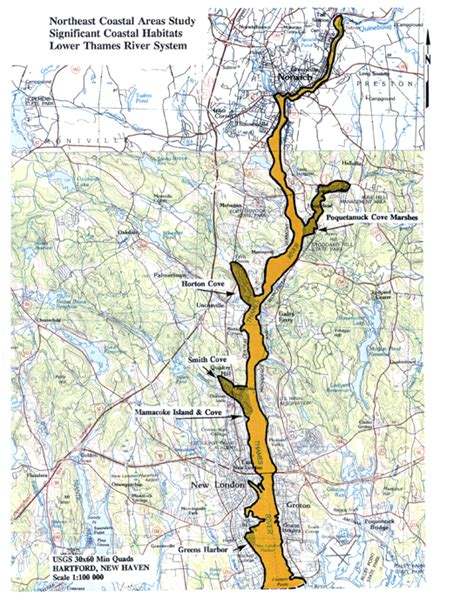 thames river map ct 26 thames river