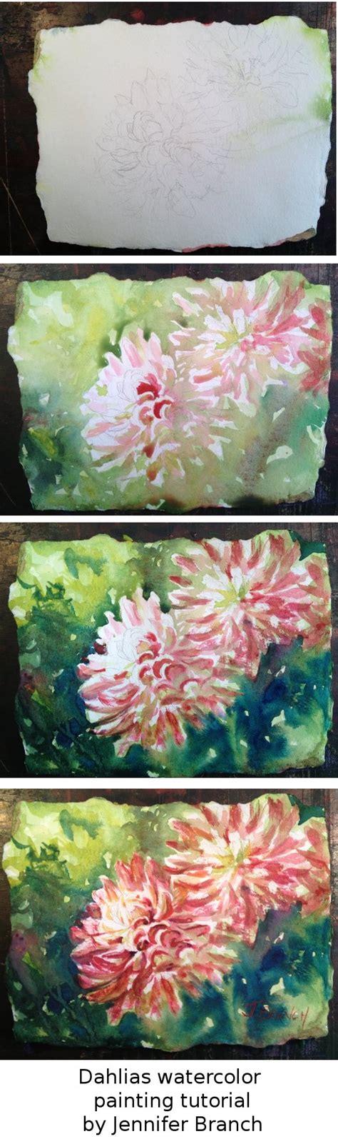 watercolor garden tutorial dahlia watercolor painting tutorial