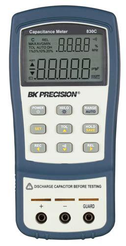 capacitance meter model 830 model 830c dual display handheld capacitance meters b k precision