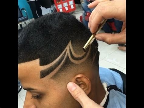 what are the names those designs in haircut how to easy custom star design men s haircut tutorial hd