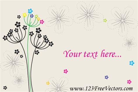 Kartu Ucapan Flower kartu ucapan dengan bunga domain publik vektor