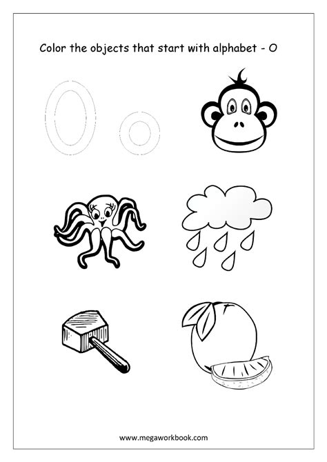 colors that start with a alphabet picture coloring pages things that start with