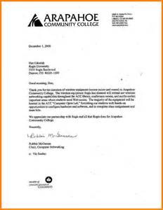 Scholarship Letter 5 Thank You Scholarship Letter Letter Format For