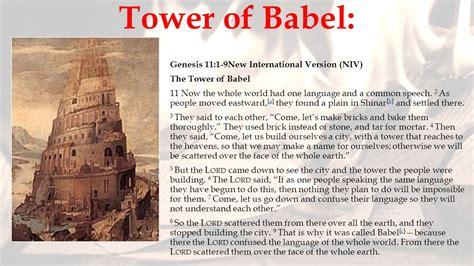 tower of babel genesis fahrenheit 451 by bradbury ppt