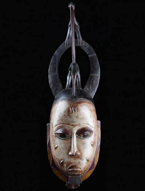 Masker Ibs ivory coast guro mask with bird and horns for sale