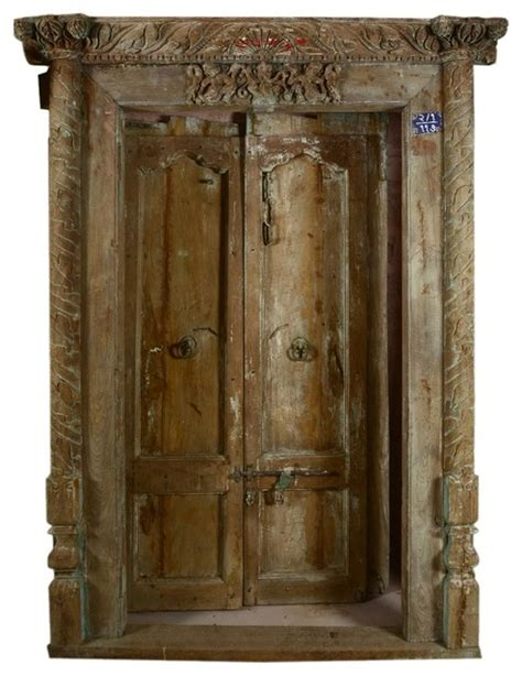 classic beautiful carved antique style door