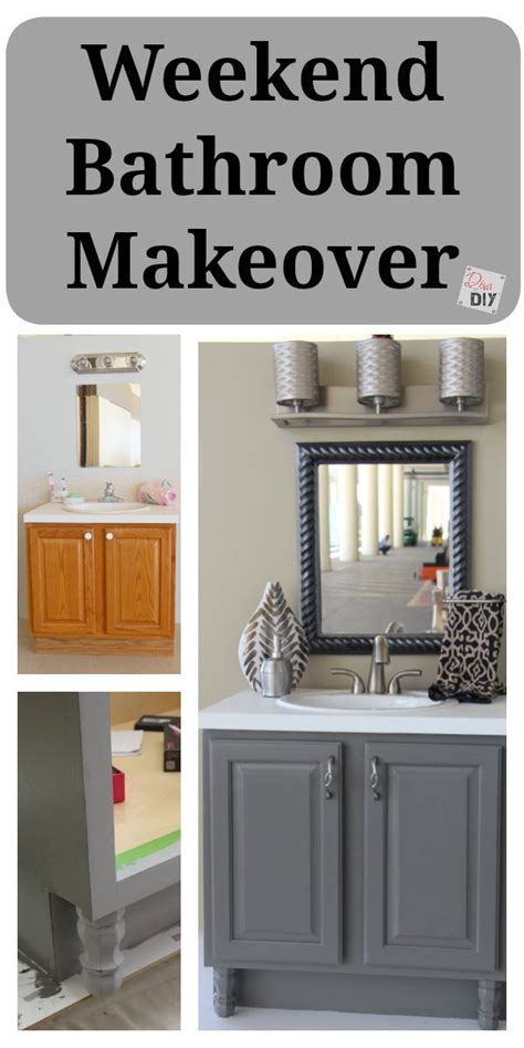 bathroom vanity makeover diy 4 diy bathroom ideas that are quick and easy l grey