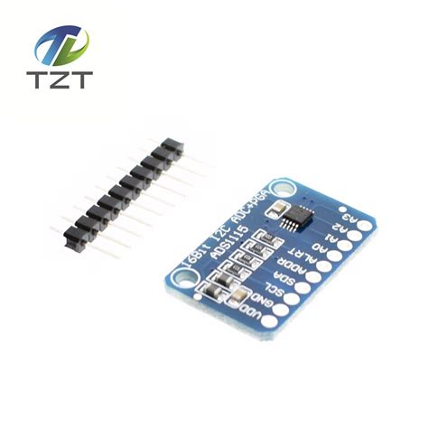 16bit I2c Ads111s Module Adc 4 Channel With Pro Gain Lifier Ardui 1pcs 16 bit i2c ads1115 module adc 4 channel with pro gain lifier for arduino rpi in