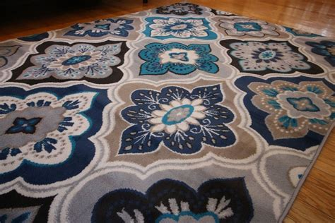 navy blue and beige area rugs new 8x11 blue beige navy grey aqua teal modern floral area rug 8 x 10 ebay