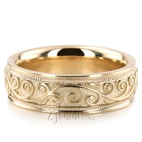 antique wedding band hc100302 14k gold