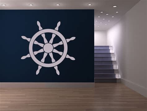 ship steering wheel helm sea wall stickers wall decal
