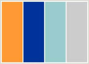 orange and blue make what color colorcombo89 with hex colors ff9933 003399 99cccc cccccc