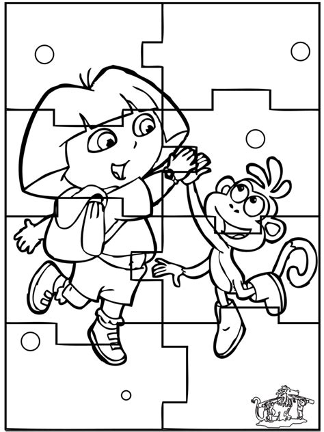 Free Coloring Pages Of Dora Puzzle Free Coloring Pages And Puzzles