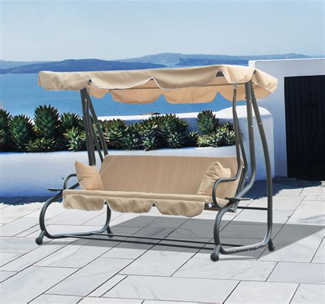 patio swing folds into bed 3 person outdoor swing seat patio hammock furniture bench