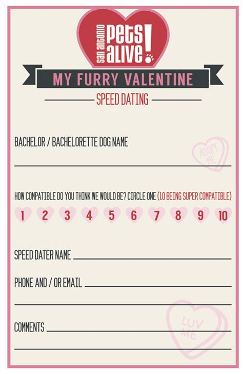 Speed Dating Score Card Templates Speed Dating Card Template