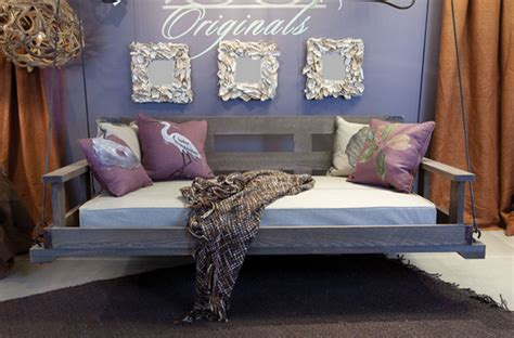 swinging day bed using beach waste for beautiful design thehome com