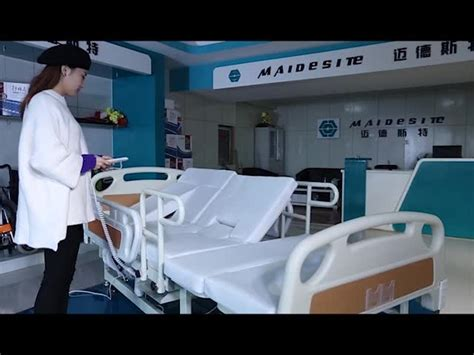 rotating height adjustable electric nursing hospital bed for patient for wholesale buy