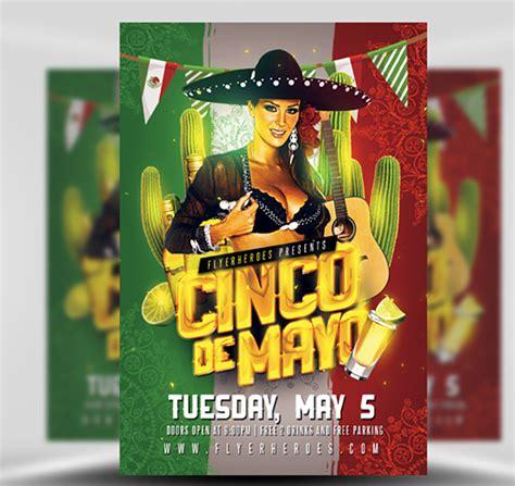 Cinco De Mayo Psd Flyer Template Flyerheroes Cinco De Mayo Template