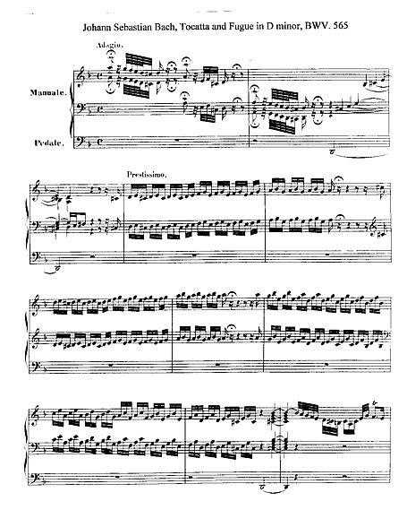 Toccata e fuga (Toccata and Fugue) Original version