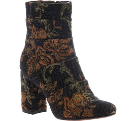 Poetic Patchwork - womens poetic licence patchwork places ankle boot black