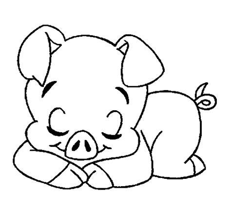 baby pigs coloring page dibujo de cerdito 2 para colorear dibujos net