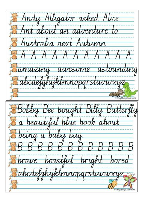 nsw foundation handwriting printable worksheets handwriting copy cards nsw cursive speed loopsjpg page3