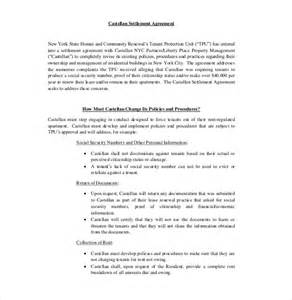 template settlement agreement 10 settlement agreement templates free sle exle