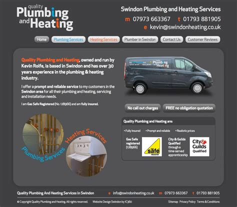 Quality Plumbing And Heating by Swindon S Quality Plumbing And Heating Get New Branding
