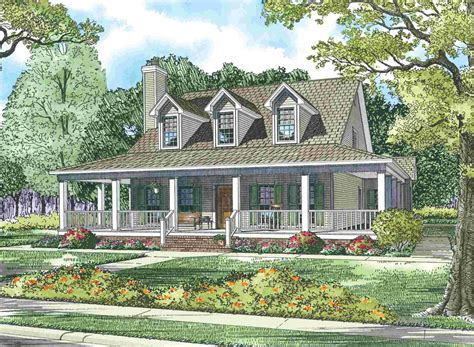 country style house with wrap around porch house plans with wrap around porches