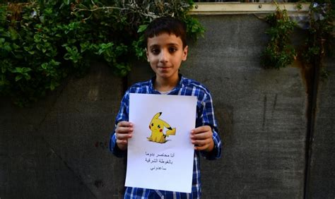 syrian children use images of go in plea for help