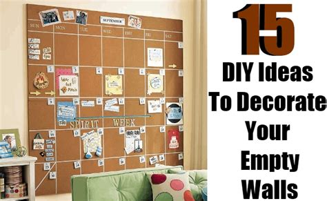 ideas for empty walls 15 diy ideas to decorate your empty walls diy home things