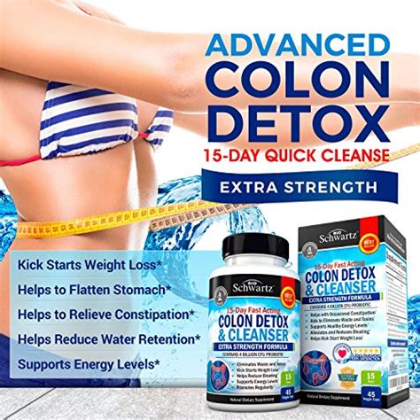 Buy Schwartz Colon Detox Cleanser by Colon Cleanser Detox For Weight Loss 15 Day