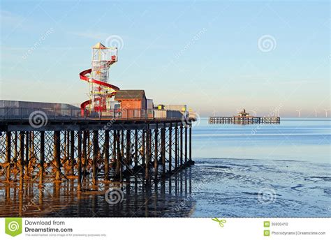 pattern energy pier 1 bay 3 pier and helter skelter funfair ride stock photo image