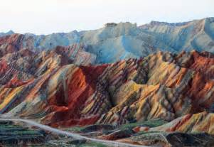 colorful mountains the colorful danxia mountains of china