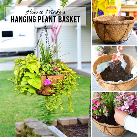 how to make hanging planters how to make a hanging plant basket created by v