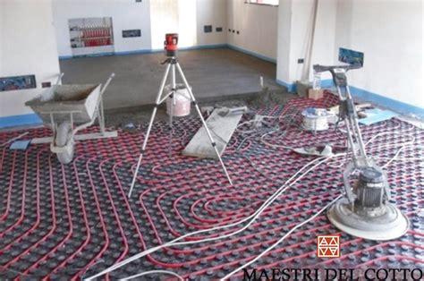 pavimenti riscaldati cotto fatto a mano e posa in opera a calce cotto fatto a