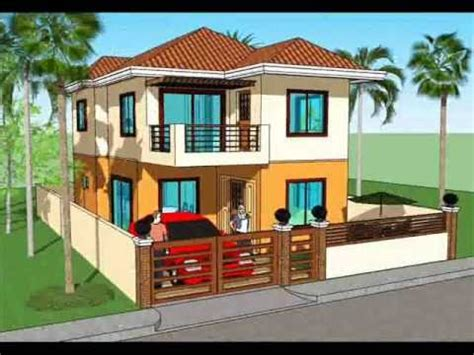 simple two storey house plans simple house plan design 2 storey house youtube