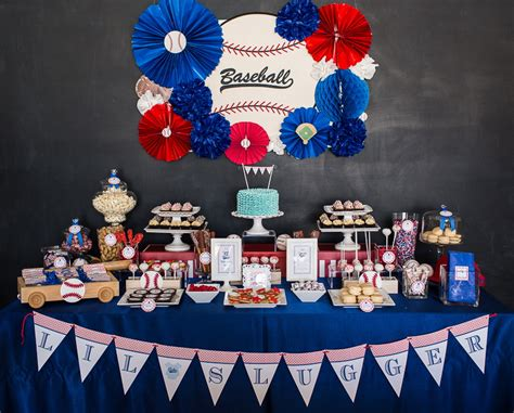 Baseball Baby Shower Ideas for the lil slugger baseball baby shower b lovely