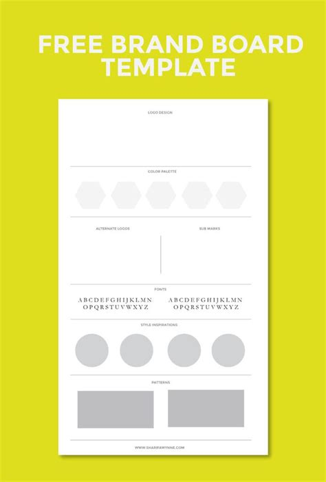 branding templates best 25 brand board ideas on branding design