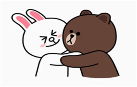 Kaos Line Emoticon Cony 15 sticker line brown and cony your title