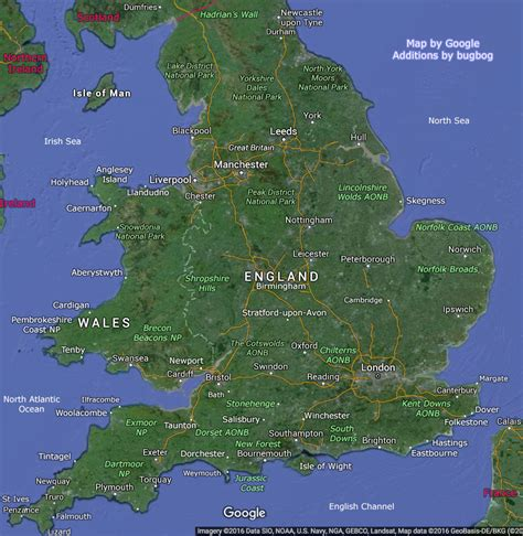 map uk and map with wales tourist places links to large