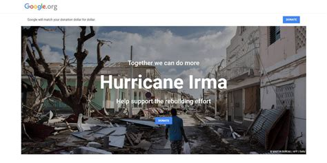 hurricane irma donations working to provide hurricane irma relief matching