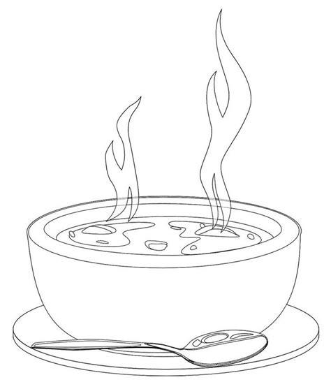 coloring page bowl bowl of soup drawing google search porogative
